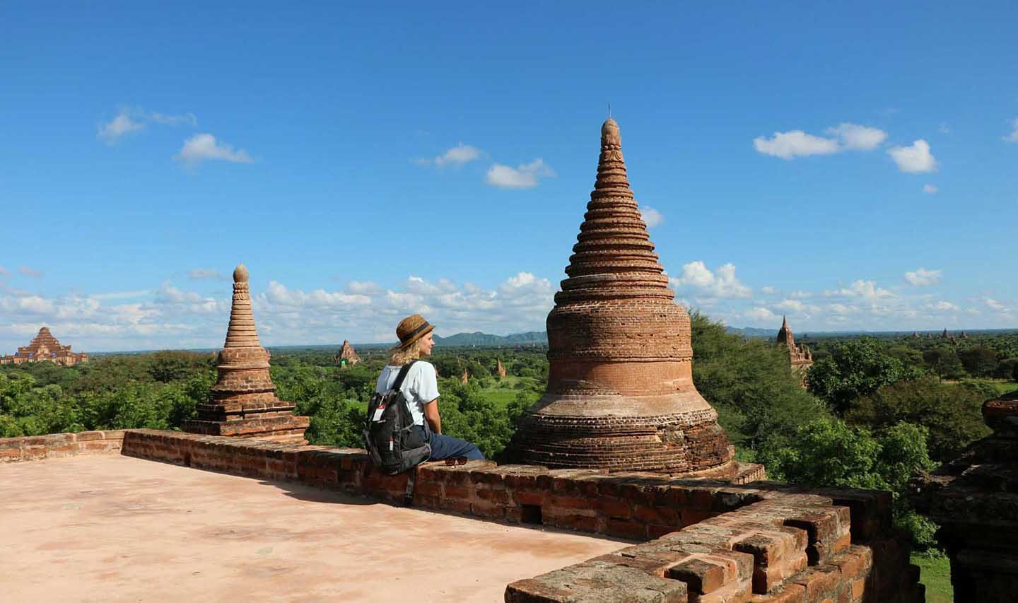 Bea in Myanmar Bagan