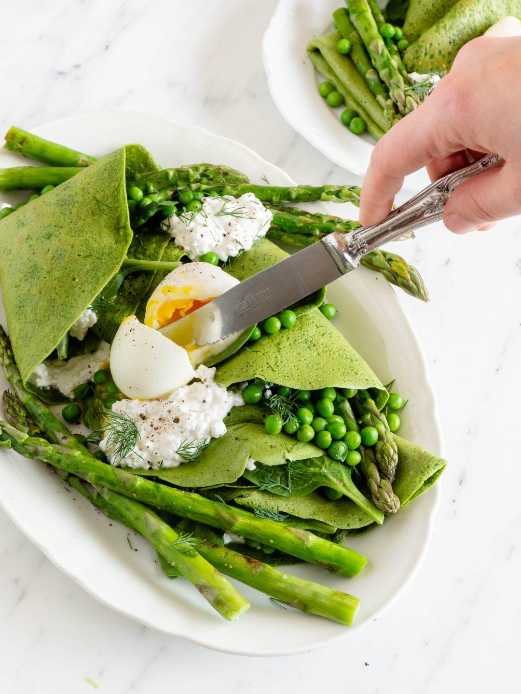 gewoonhanne.nl - spinazie-pannenkoeken met asperges en ei