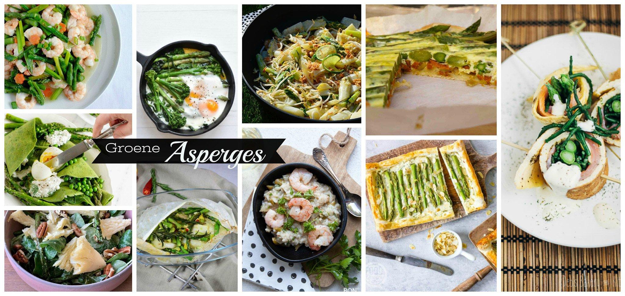 Recepten met groene asperges