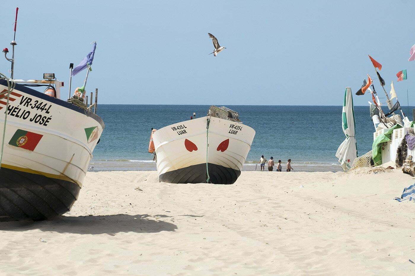 Strand Algarve Monte Gordo Portugal