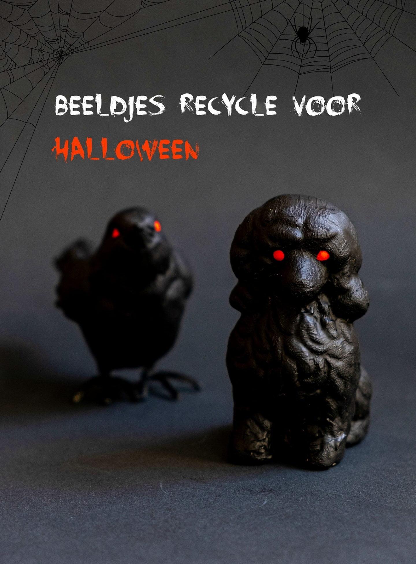 Beeldjes recycle voor Halloween – Diy