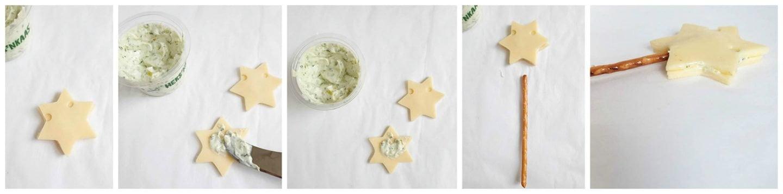 Hartig hapje voor Kerst met kaas en zoute sticks