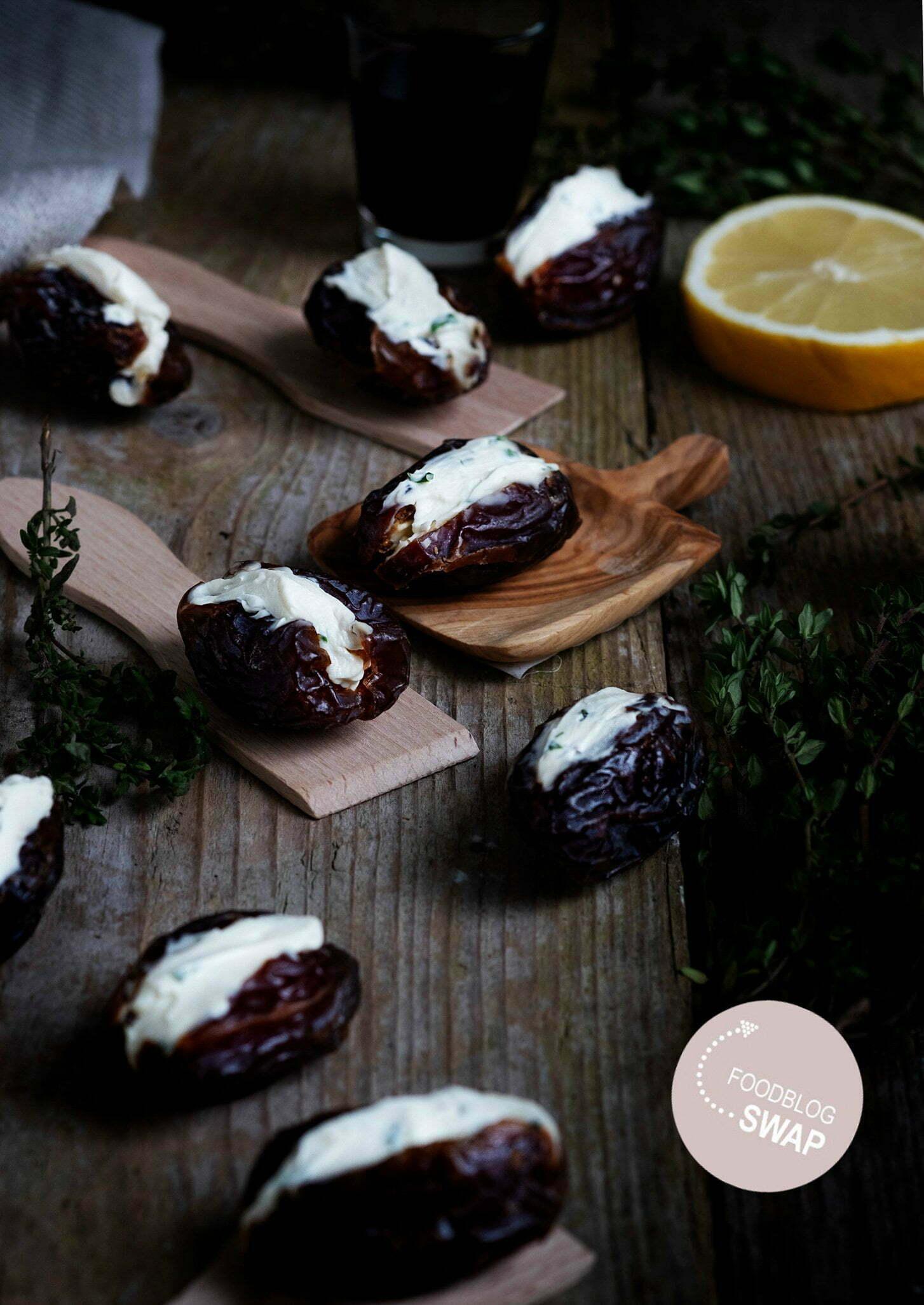 dels met zelfgemaakte kruidenroomkaas - Foodblogswap
