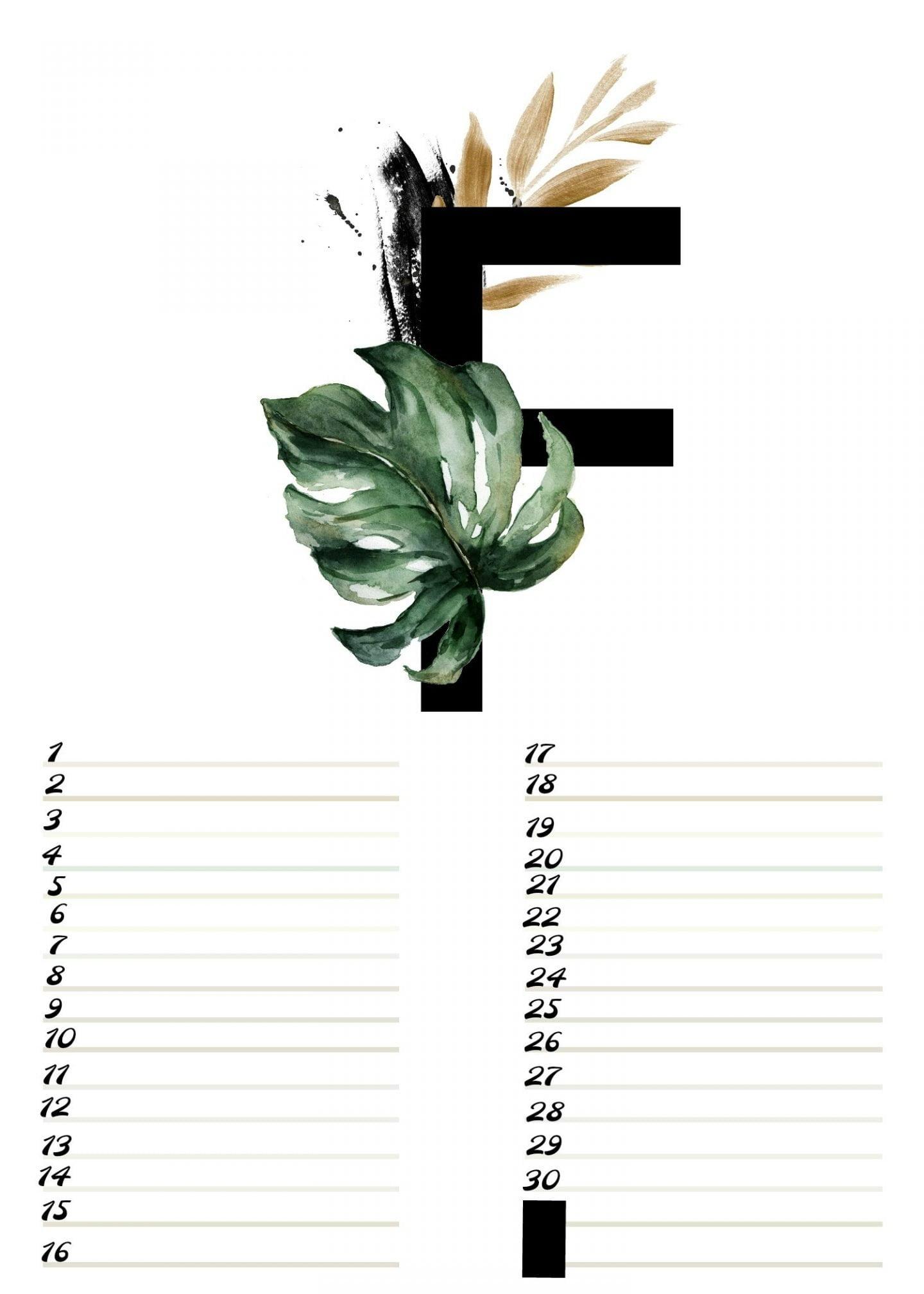 A4 verjaardagskalender alfabet Februari ElsaRblog