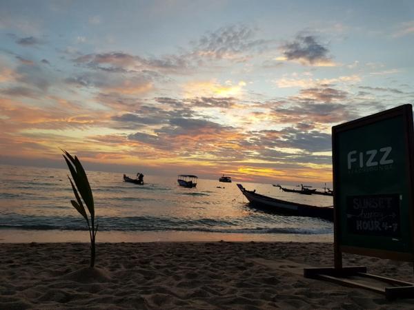Zonsondergangen in Thailand
