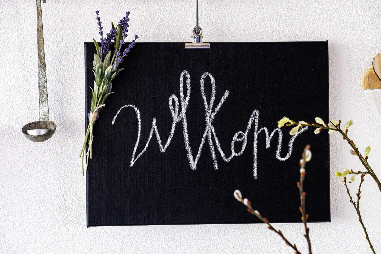 Welkomstbord zelf maken - Diy