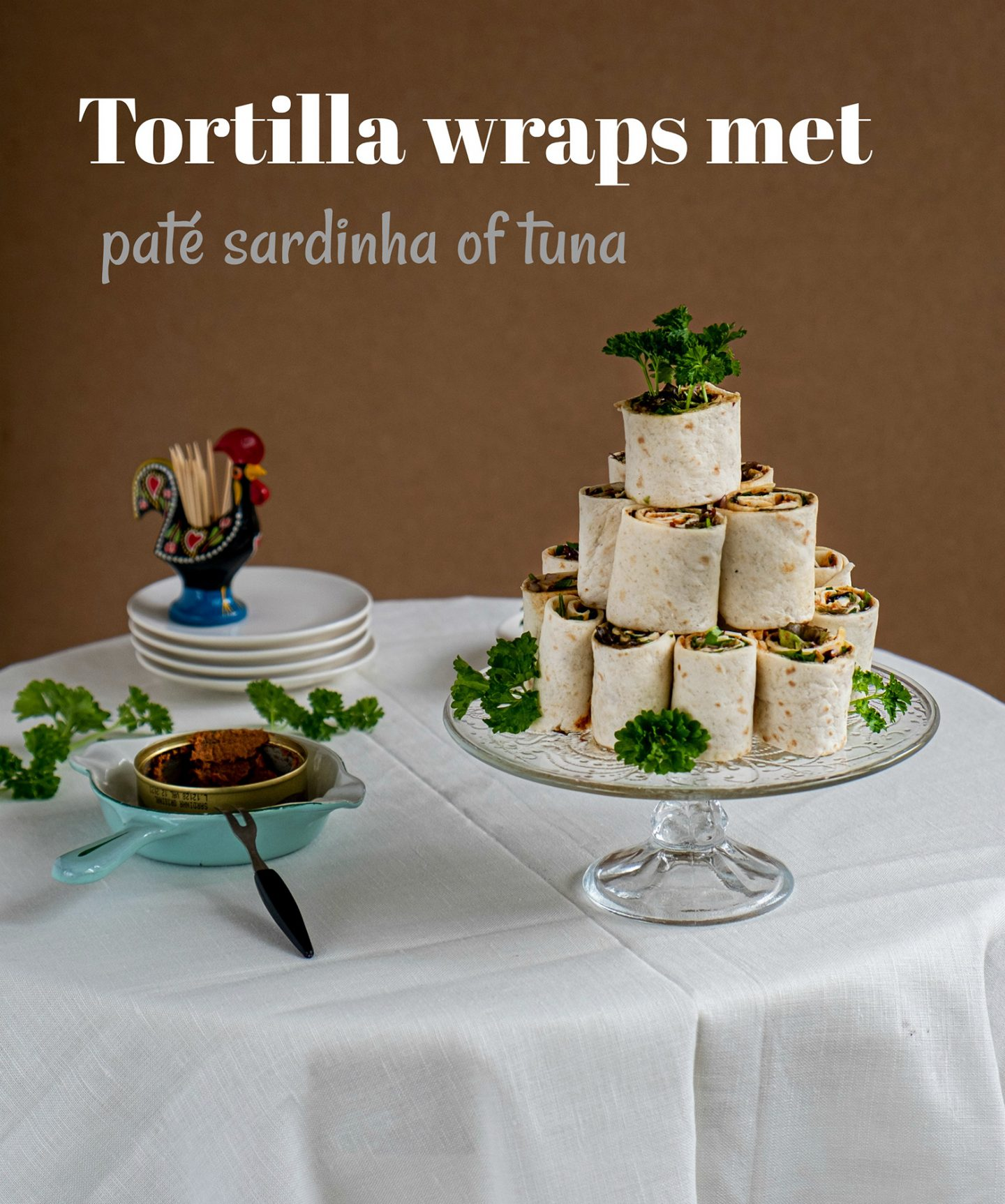 Pin: Tortilla wraps met paté sardinha of tuna – Hartige hapjes