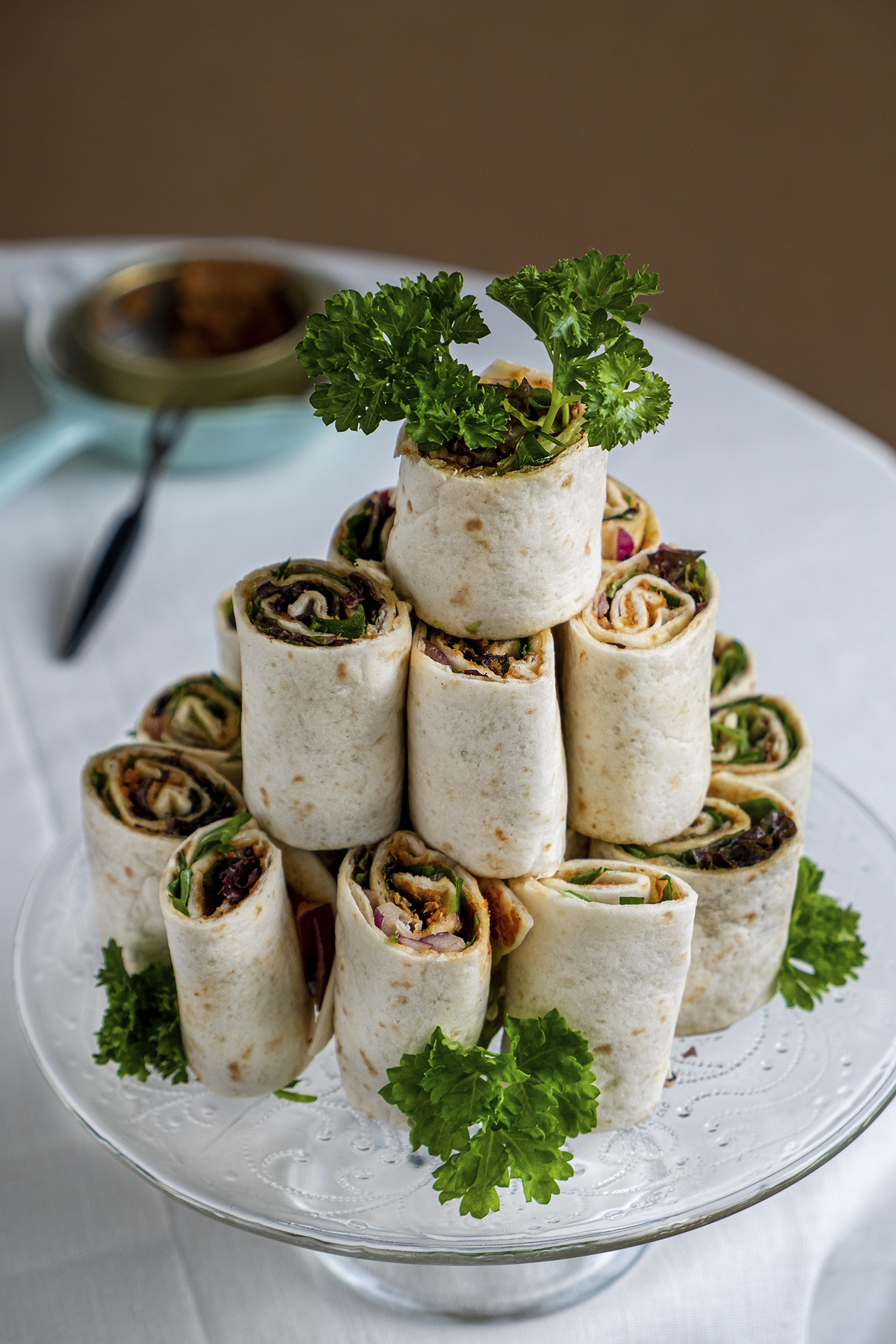 Tortilla wraps met paté sardinha of Tuna