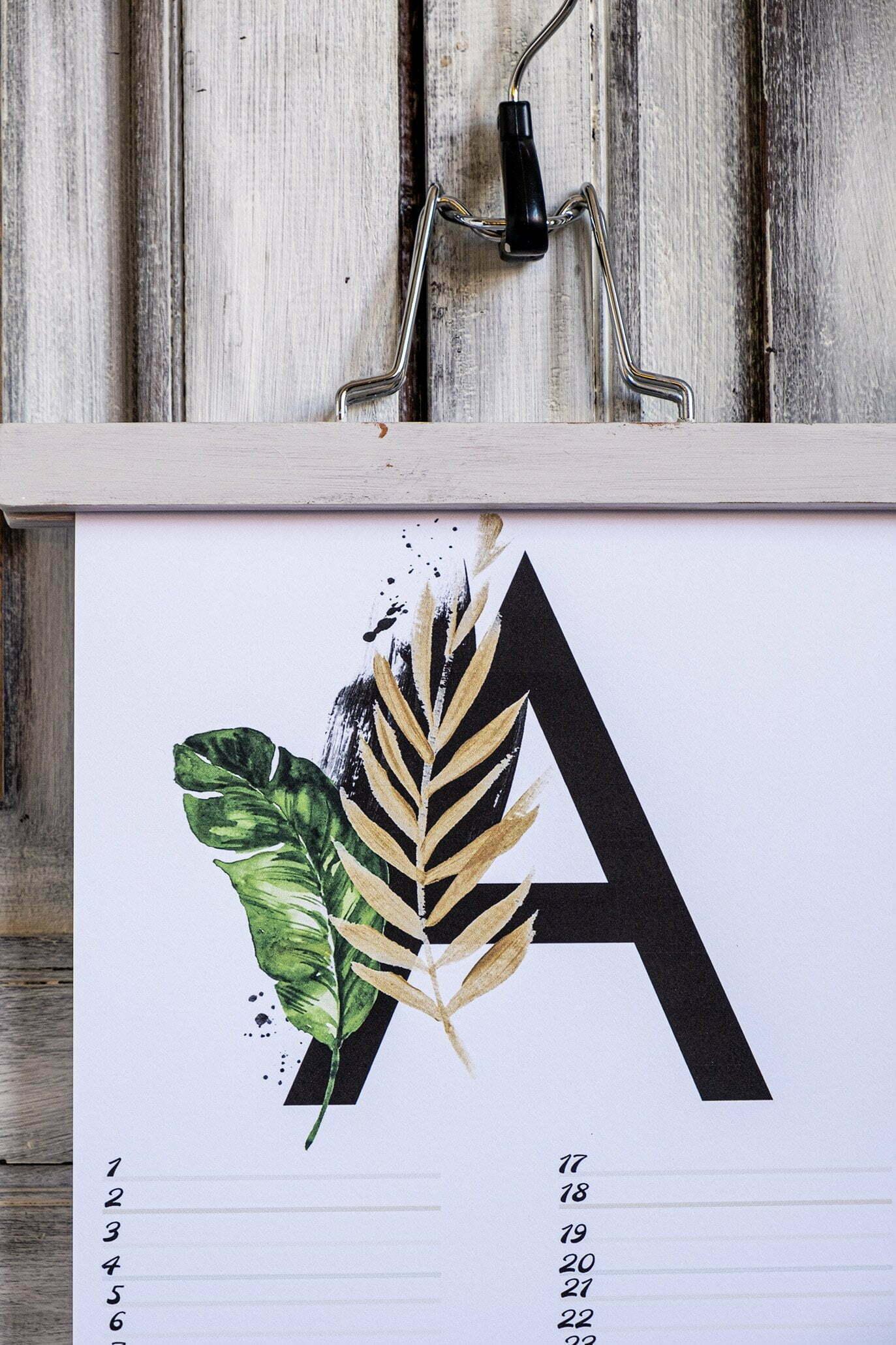Gratis verjaardagskalender alfabet van April – Nr.4