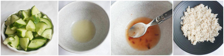 Poké bowlmet ansjovis en chilisaus