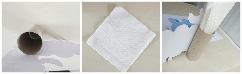 Servethouder knutselen met een wc-rol – Diy