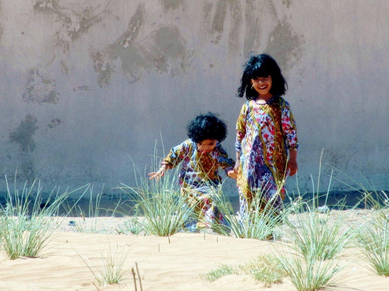 Foto van Bohalista: twee bedoeïenen kinderen