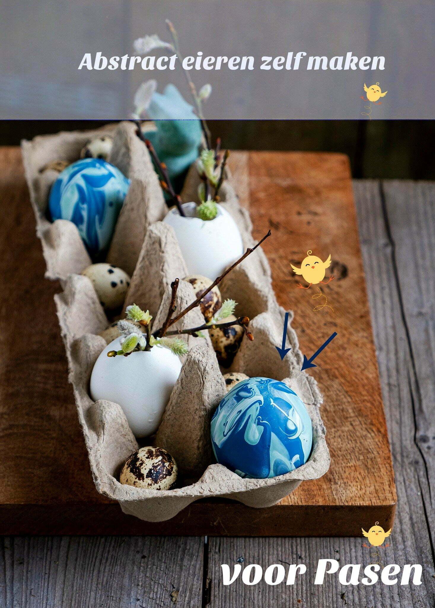 Abstract eieren zelf maken voor Pasen