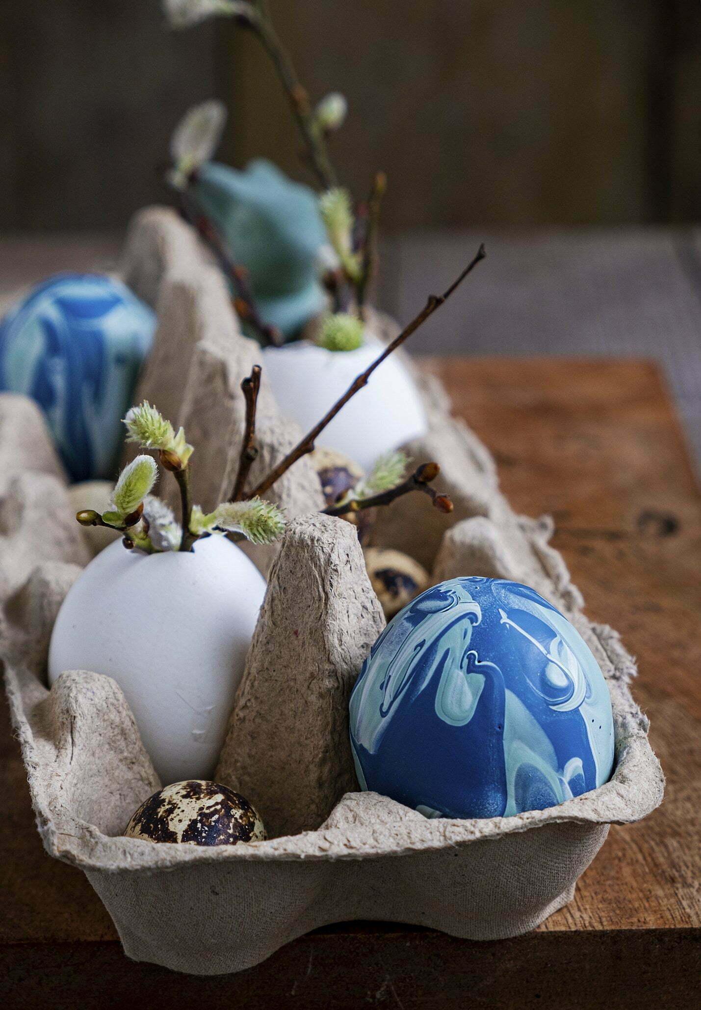Abstract eieren zelf maken voor Pasen – Diy