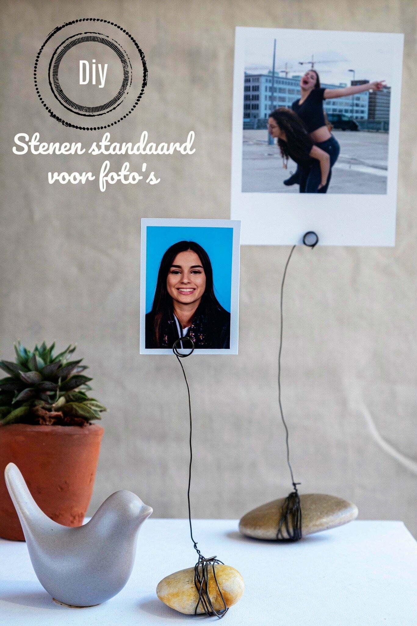 Pin: Stenen standaard voor foto's