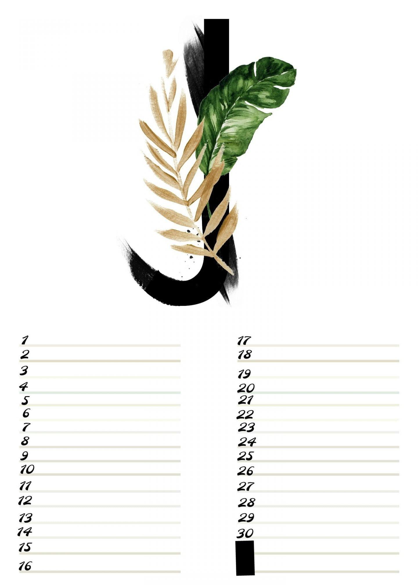 Gratis verjaardagskalender alfabet van Juni-nr.6