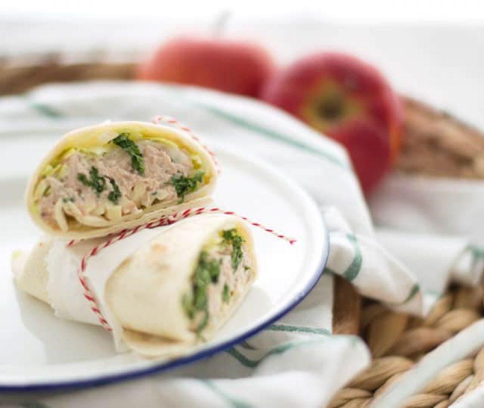 Eef kookt zo: Wrap met tonijn en appel