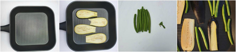 Salade met gegrilde aubergine en witte kaas