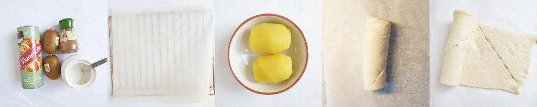 Kaneelbroodjes met kiwi