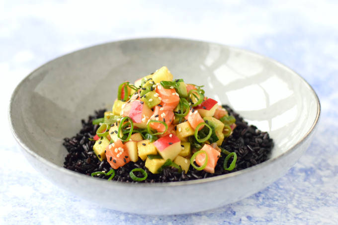 Anniepannie: Poke bowl appel zalm avocado