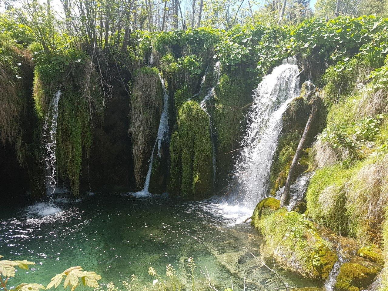 Kroatie, watervallen van Plitvicka Jezera: foto van sparklesinside