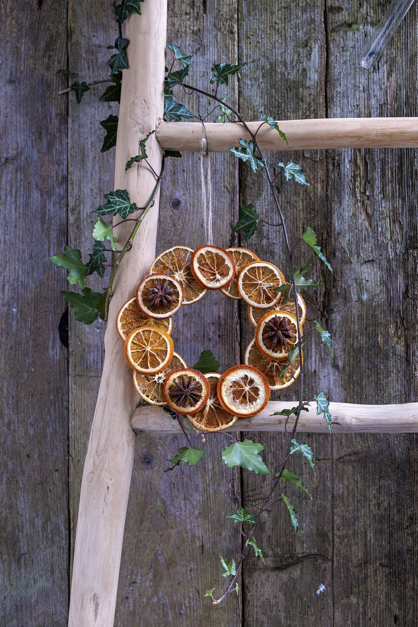 Gedroogde sinaasappel krans maken - Diy