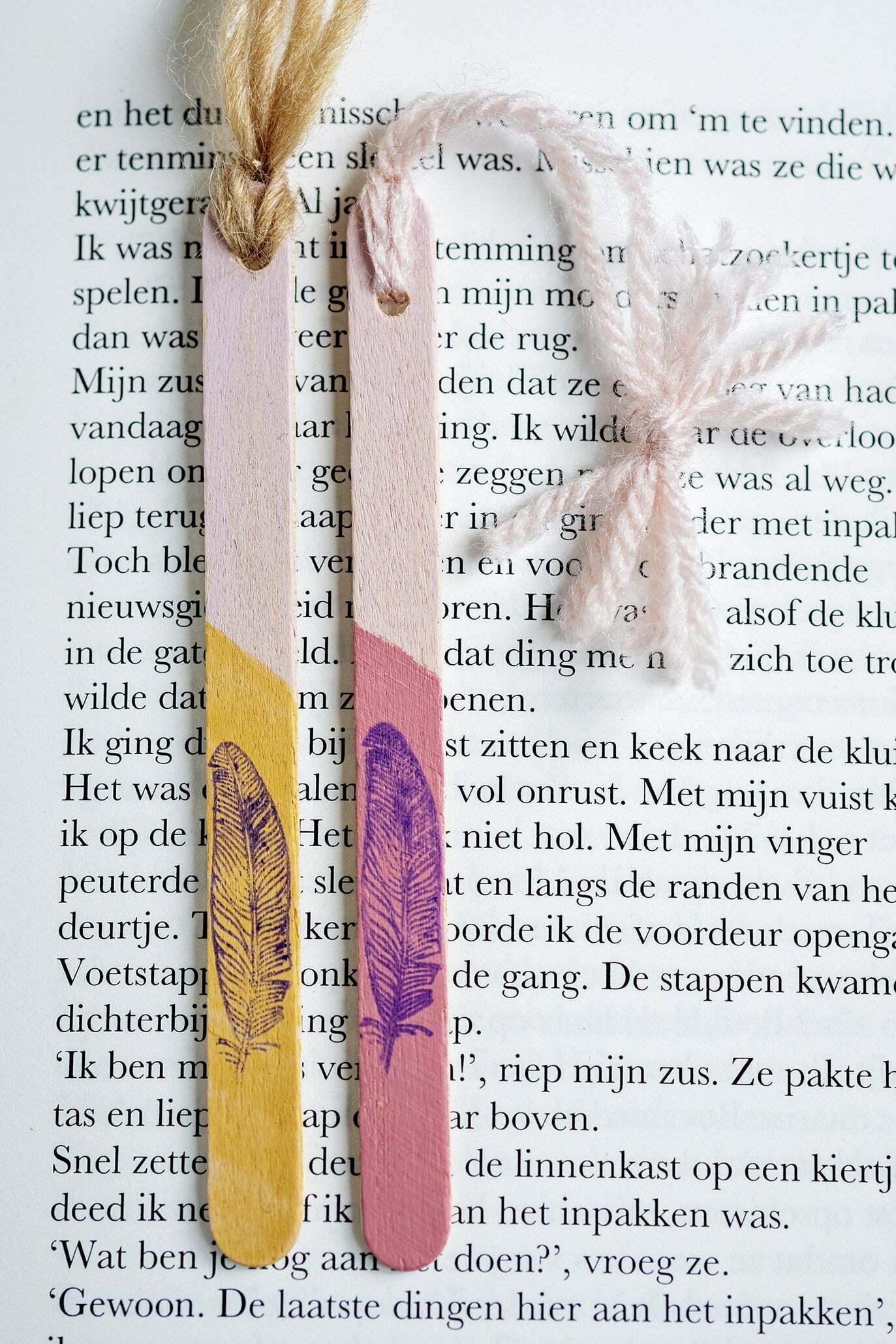 Hoe maak je een boekenlegger met ijsstokjes