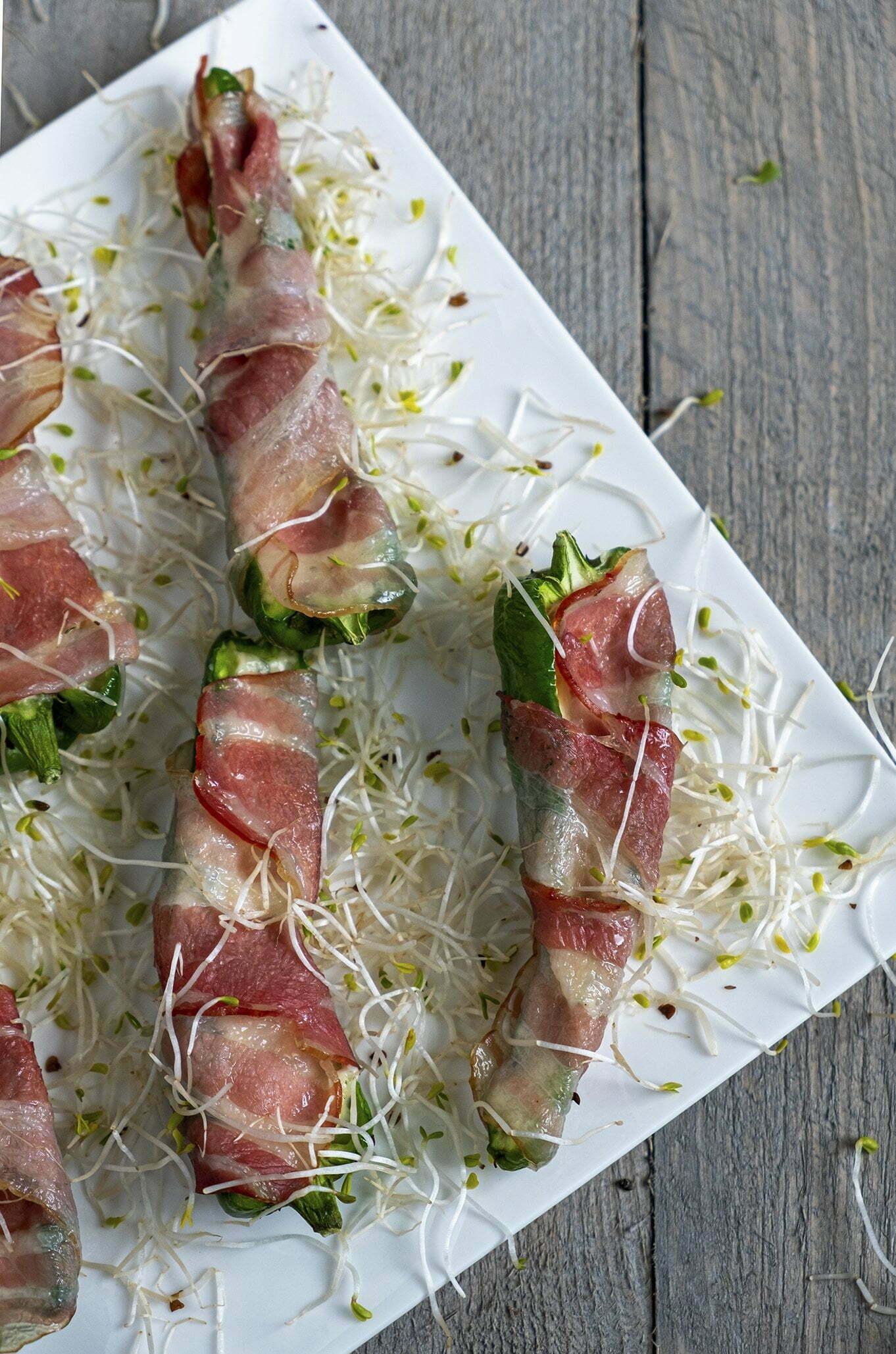 Jalapeño poppers met bacon en Boursin - Foodblogswap