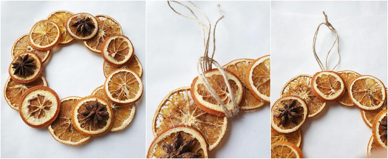 Diy Gedroogde sinaasappel krans maken