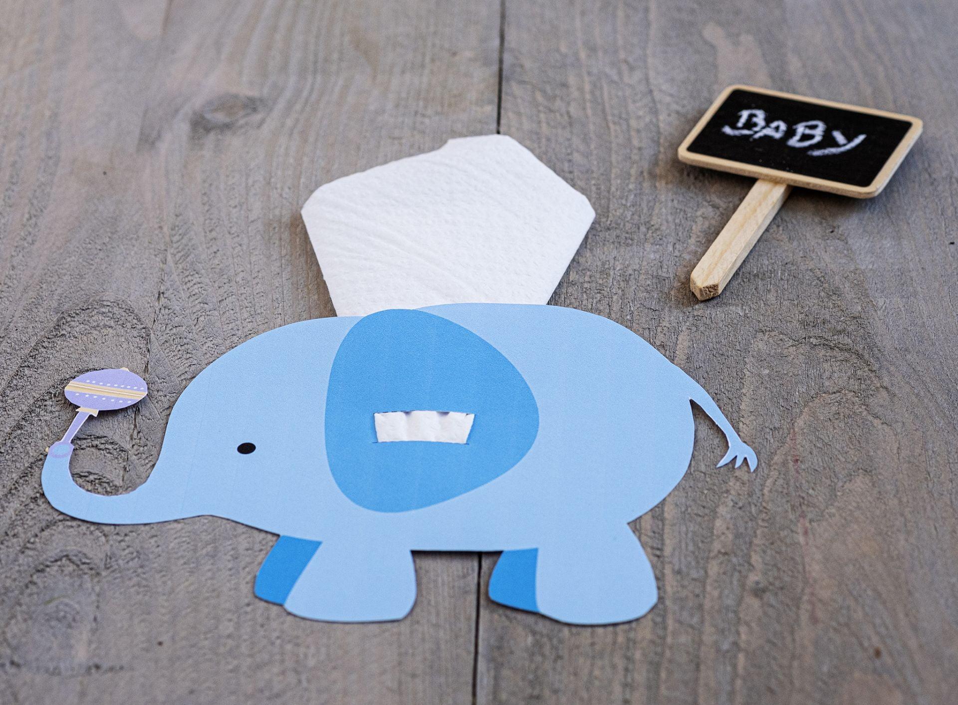 Party olifant servethouder - Baby-shower