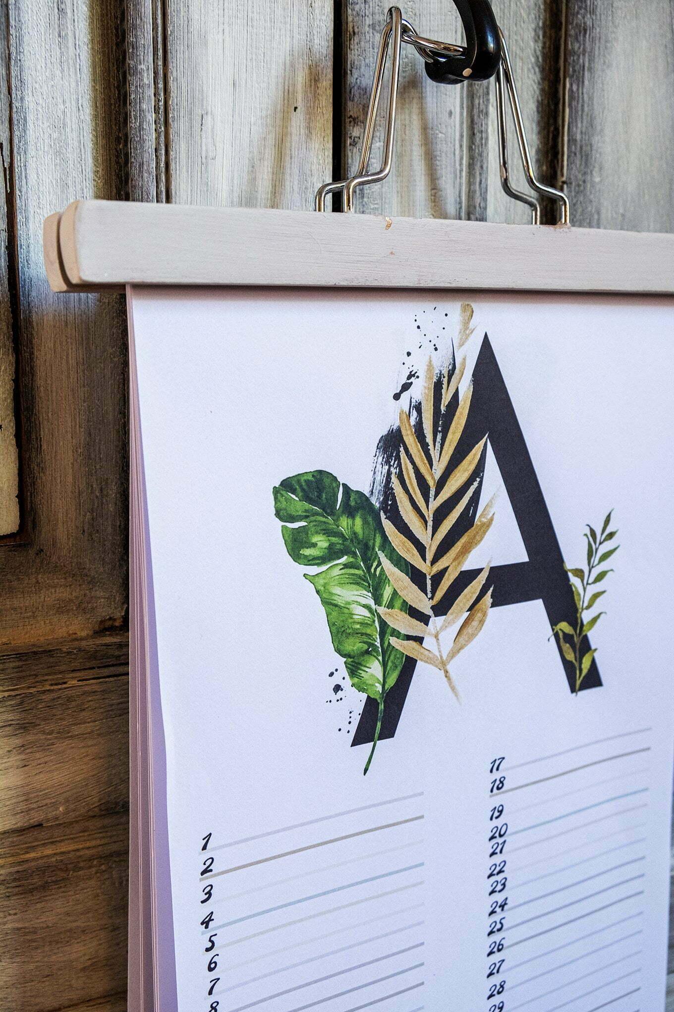 Gratis verjaardagskalender alfabet van Augustus