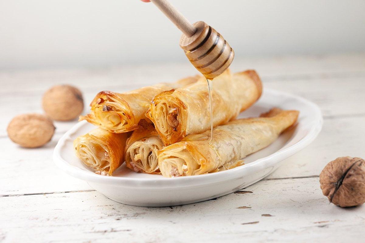 Oh my dish: Filodeegrolletjes met walnoot