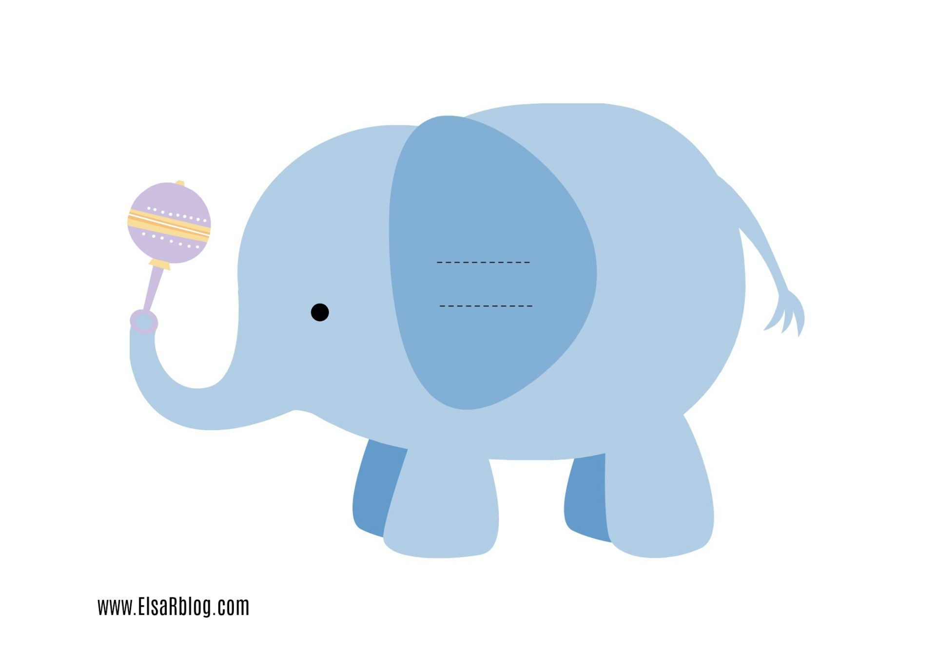 A4 Party olifant servethouder ElsaRblog
