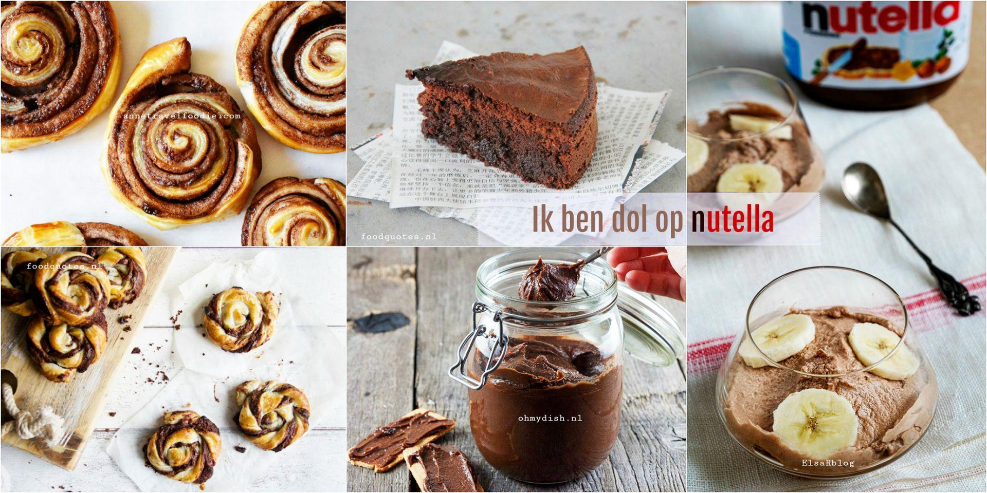 Ik ben dol op Nutella - Top recepten