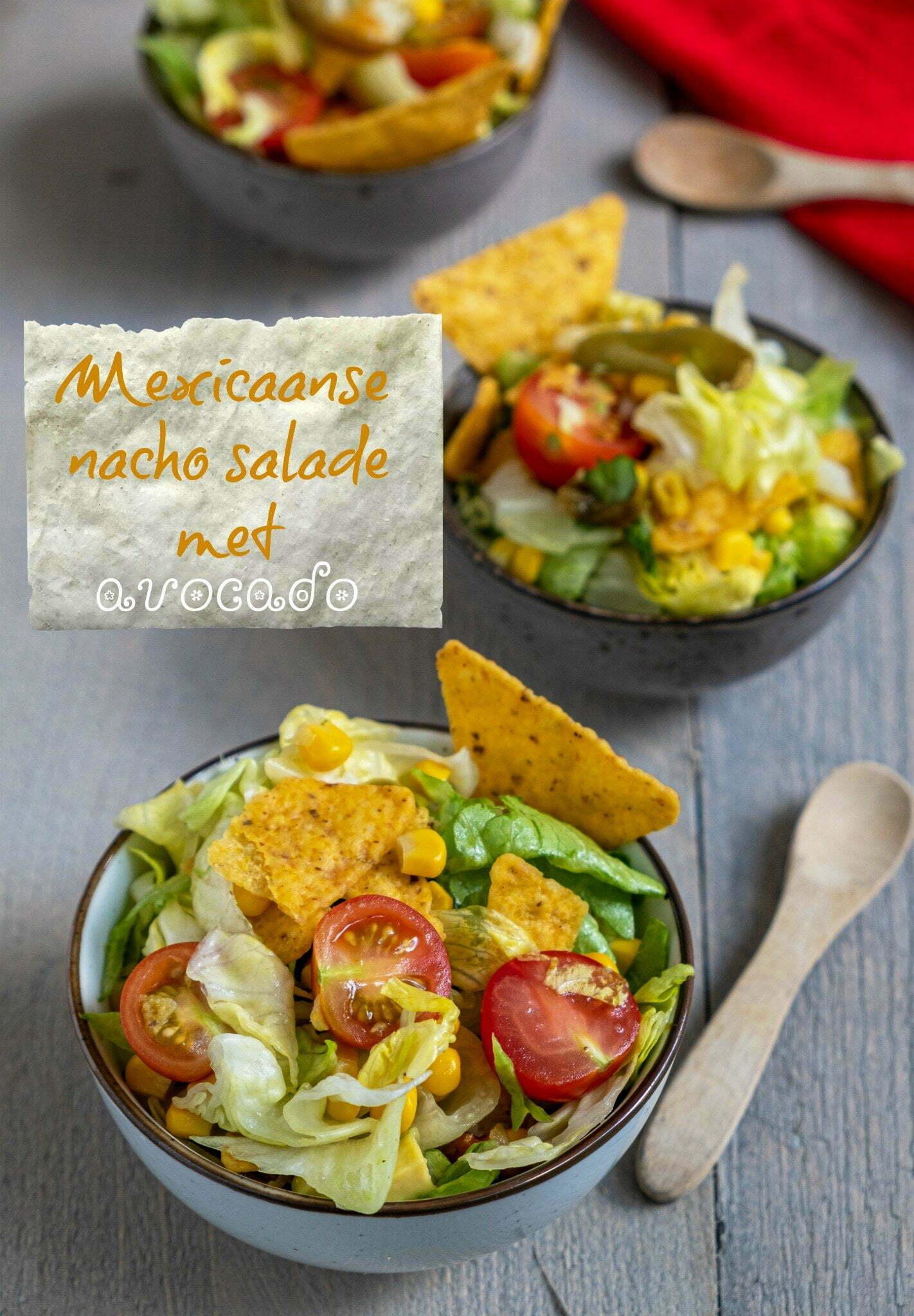 Mexicaanse nacho salade