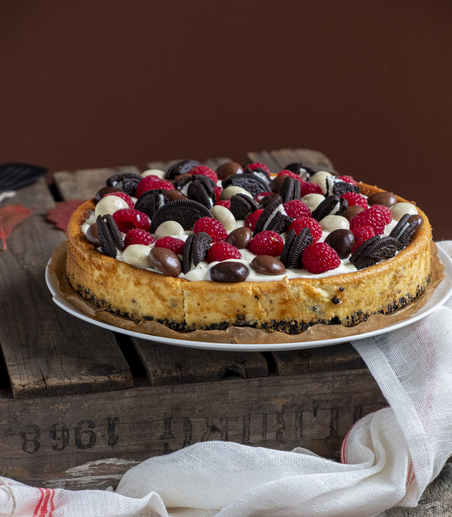 Oreo cheesecake met frambozen en pepernoten - Taarten & Cakes