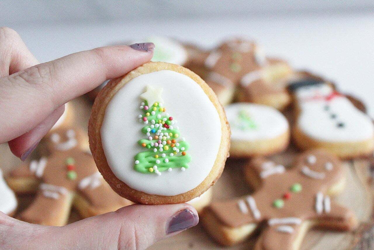 Annabellas: basis recept kerst koekjes met royal icing