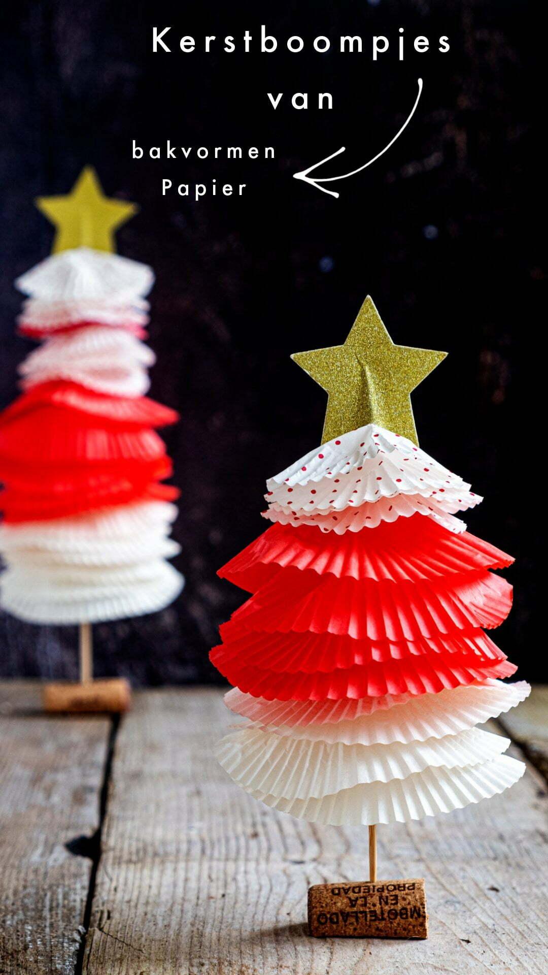 Diy Kerstboompjes van bakvormen Papier