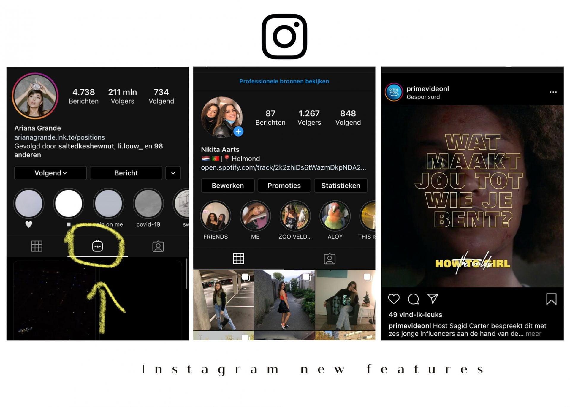 Instagram new features – Uitleg