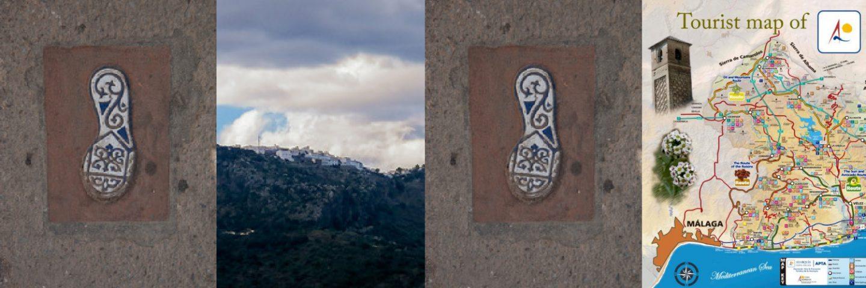 """In het dorp kan je een wandelingetje maken aan de hand van de """"voetafdrukken"""""""