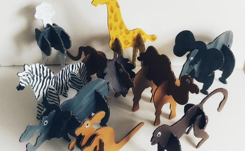 Crea met kids: 3d dieren van karton knutselen