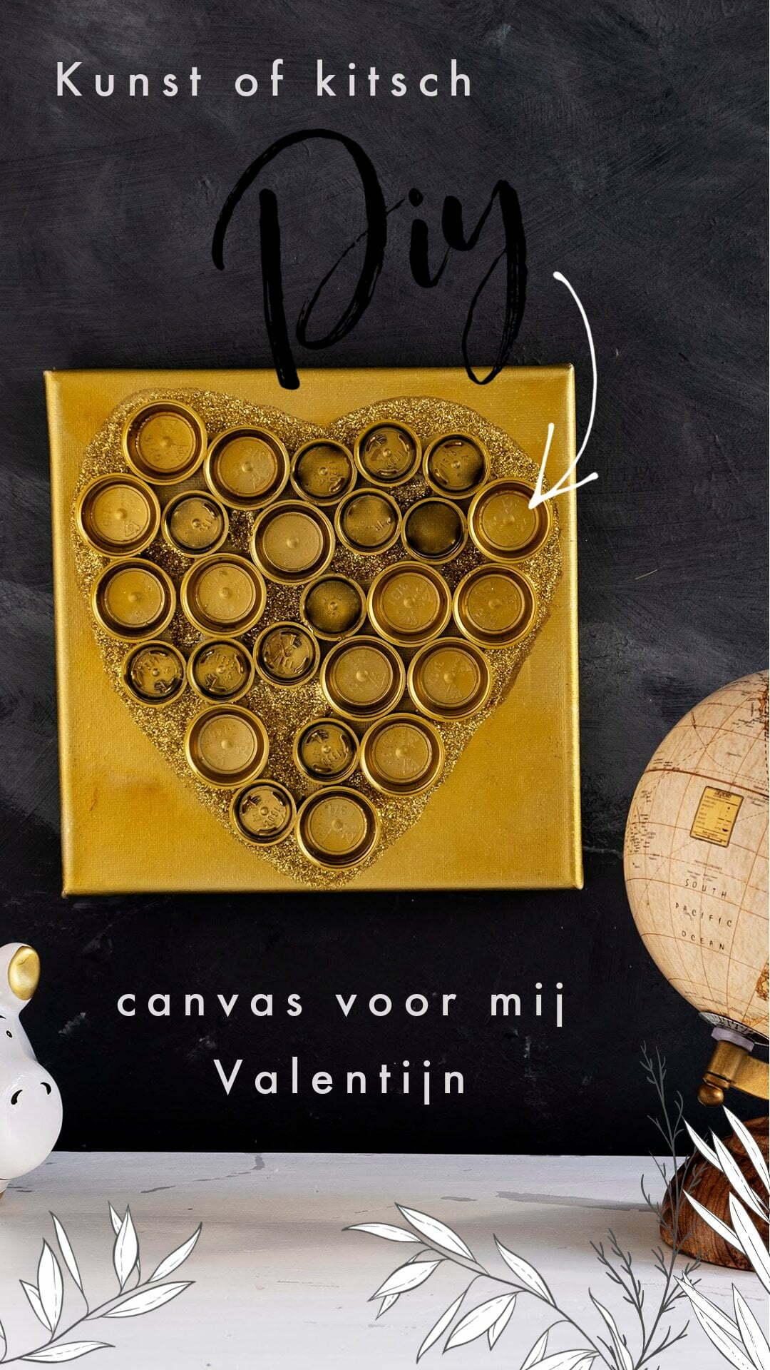 Kunst of kitsch canvas voor mij Valentijn