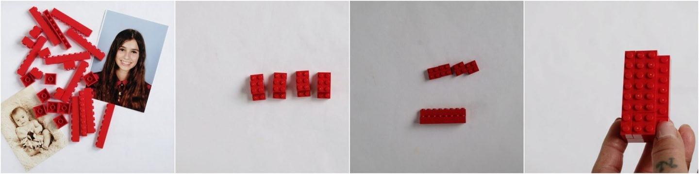 Nu ga je de blokken van Lego in elkaar zitten