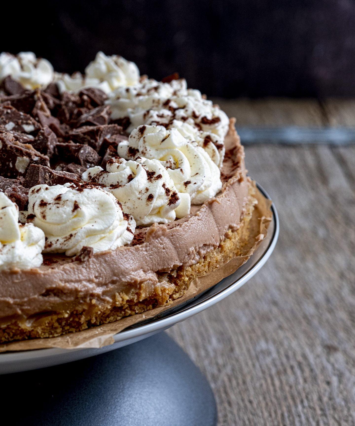 No-bake taart met toblerone
