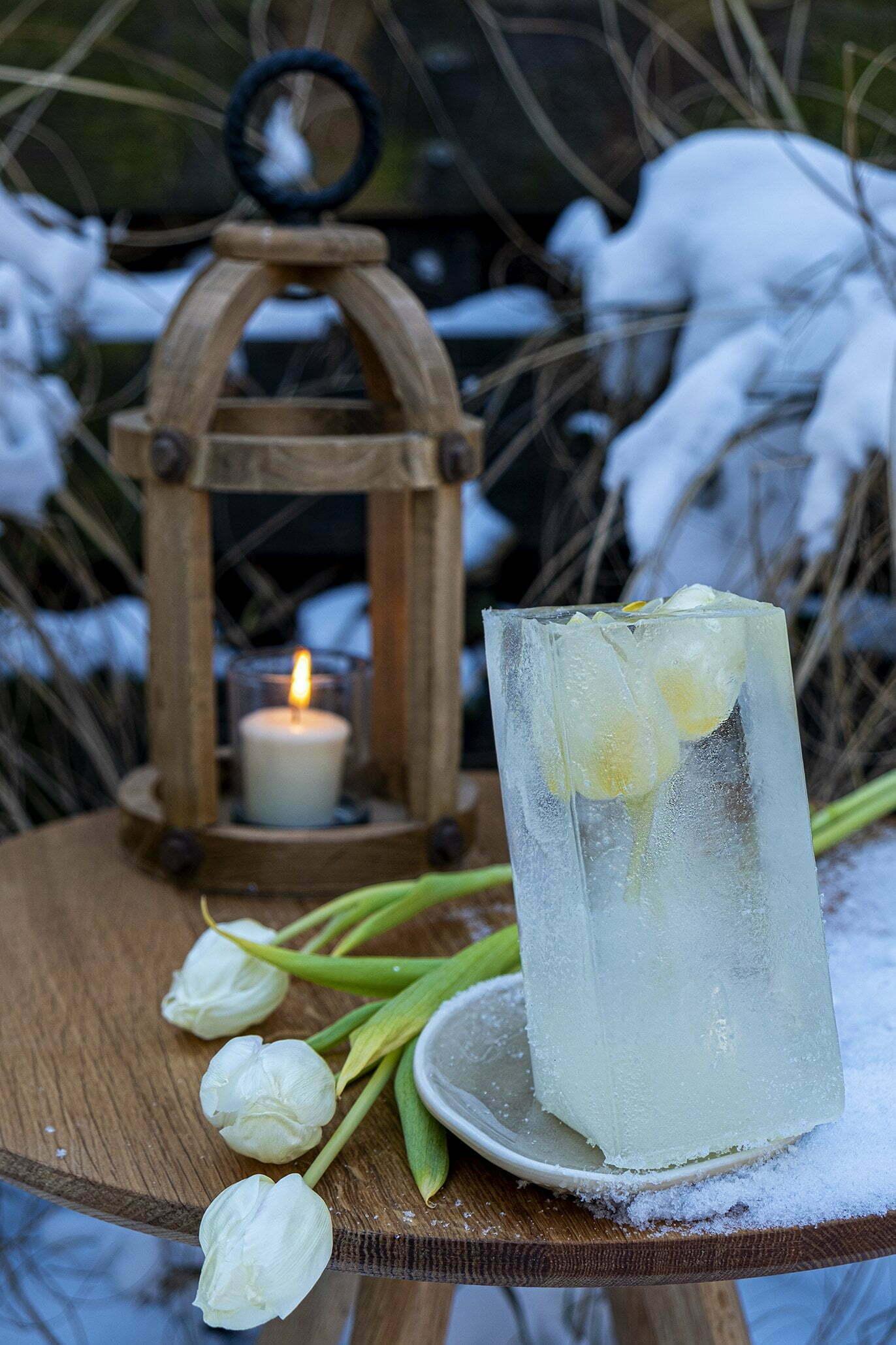 Hoe maak je bloemen in ijs als decoratie; Diy