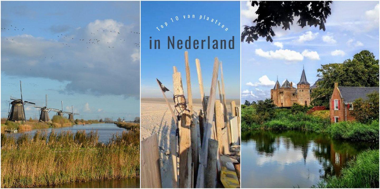 Top 10 van plaatsen in Nederland; weekend weg