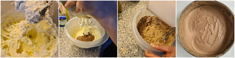 Schep de vulling op de koekjesbodem en smeer het gelijkmatig uit.
