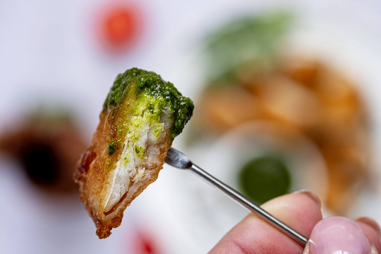 Groene saus voor bij de gebakken vis
