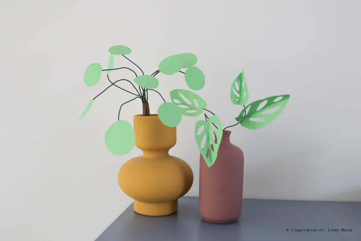 Linspiration: Maak je eigen kamerplanten van papier