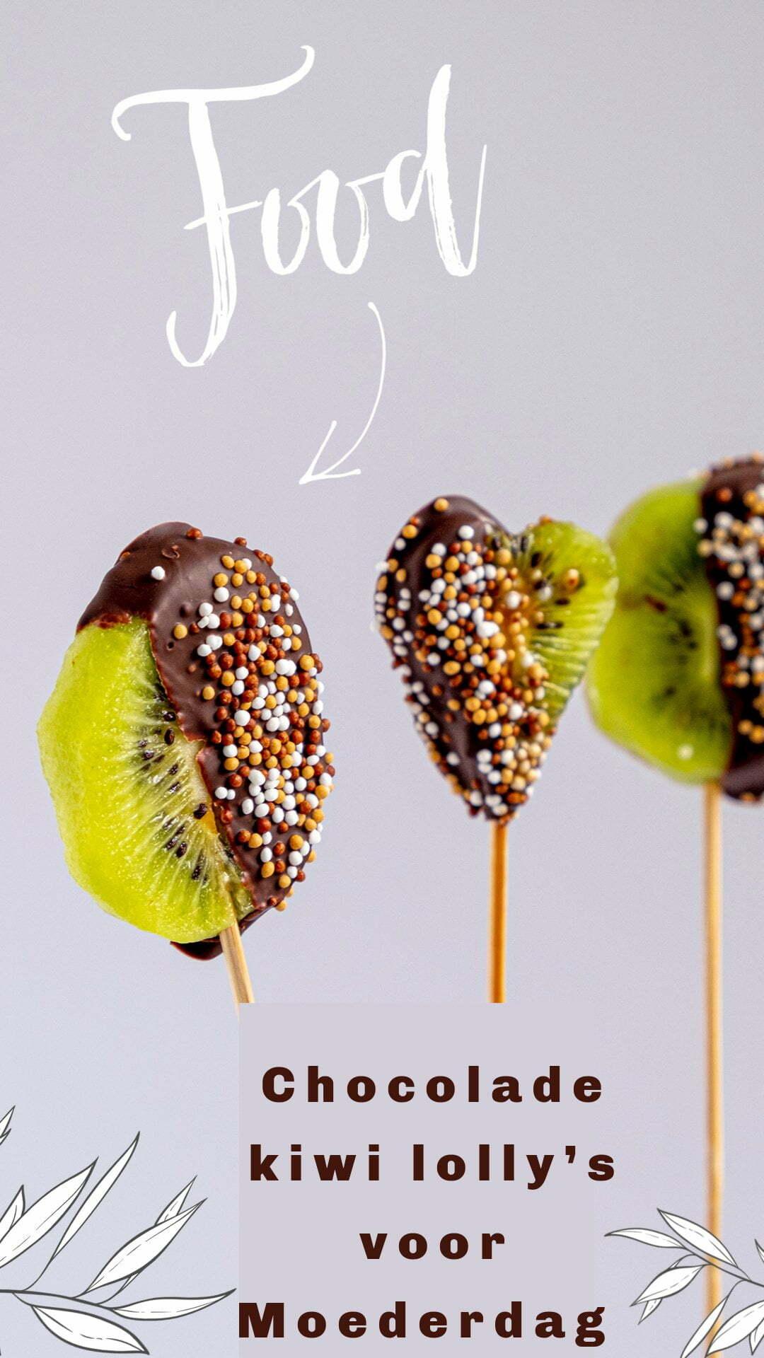 Chocolade kiwi lolly's